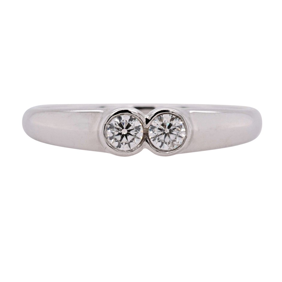 Sterling Silver White CZ Dress Ring.