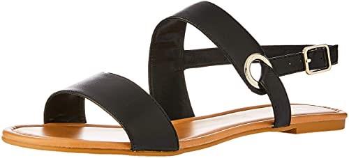 SANDLER Women`s Desire Fashion Sandals, Soft leather upper, Color: Black Gl