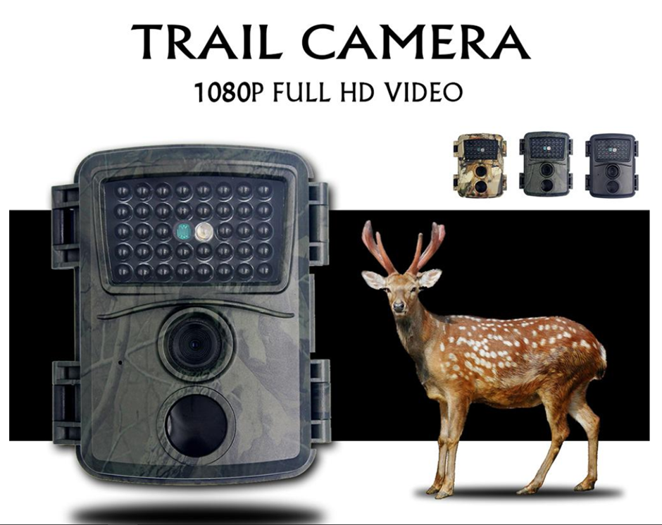 Green Camo Hunting Camera 1080p Night Vision 940nm Infrared
