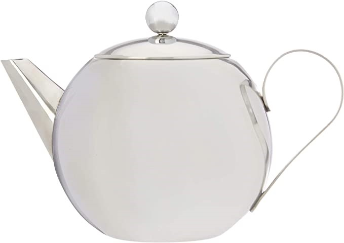 CUISENA Teapot with Filter, Silver. Buyers Note - Discount Freight Rates Ap