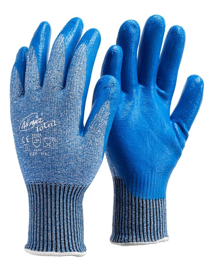 36 x NINJA Cut 5 TOTAL Industrial Work Gloves, Size XL, Latex Coated. Buyer