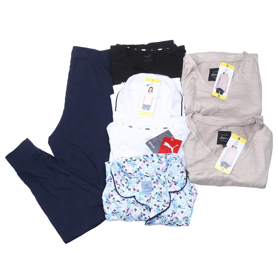 Bag of Mixed Women`s Clothing, Comprised: Tommy Hilfiger, Puma & More, Size