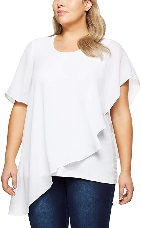 MY SIZE Womens Plus Size Aloha Buttifly Top, Colour White, Size XS. Buyers