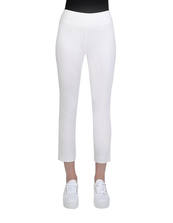 JUMP 7/8 Texture Bengaline Pant. Size 16, Colour: White. 76% Viscose, 20% N