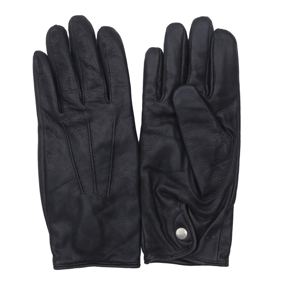 2 x SIGNATURE Unisex Leather Gloves, Size S/M, Black. Buyers Note - Discoun