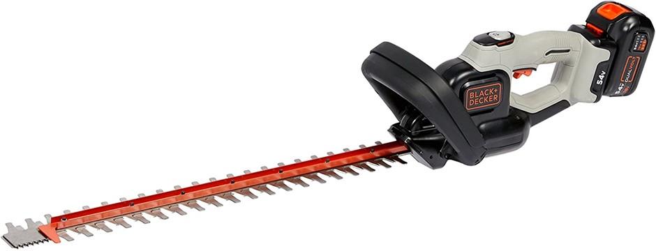 BLACK & DECKER Cordless Hedge Trimmer GTC5455PC-XE c/w Dual Volt Battery 18