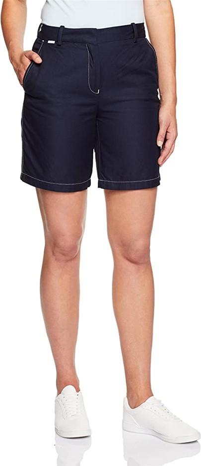 LACOSTE Womens Bermuda Shorts, 100% Cotton, Colour Navy Blue, Size 38F(Stan