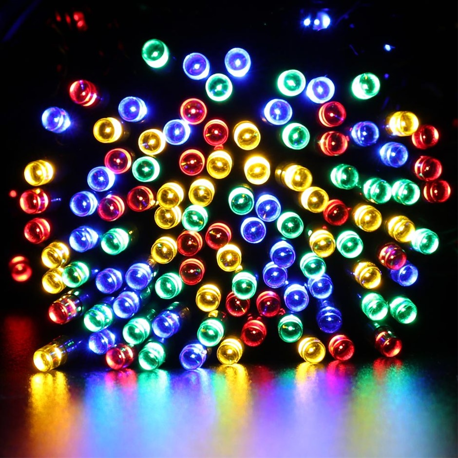 Solar Powered 200 LED Multi Coloured String Lights - 15.9 meters