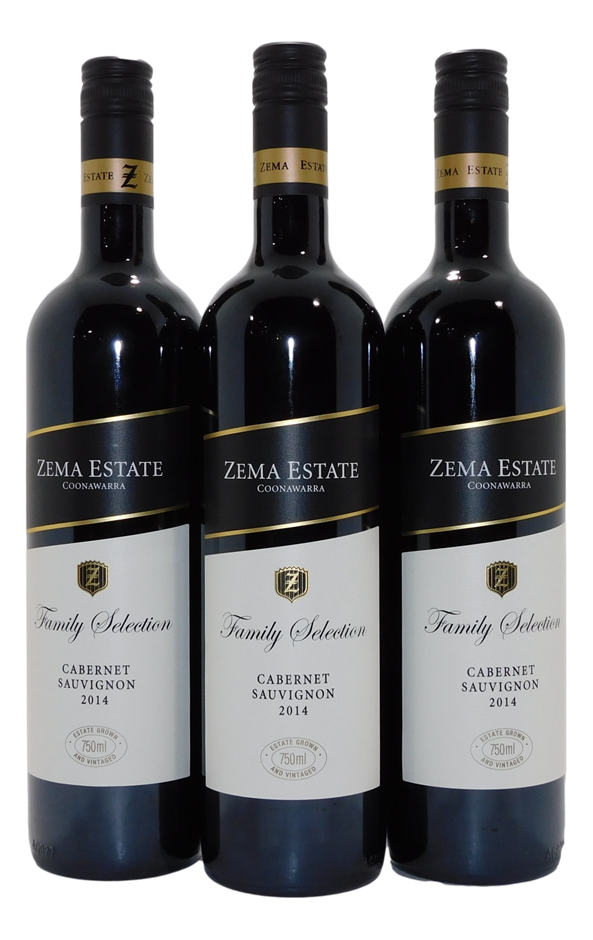 Zema Estate Family Selection Cabernet Sauvignon 2014 (3x 750mL), Coonawarra