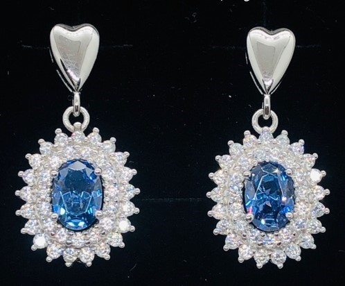 SimplySelena AAA Blue Tanzanite Earrings.