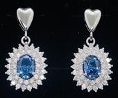 SimplySelena AAA Blue Tanzanite Earrings