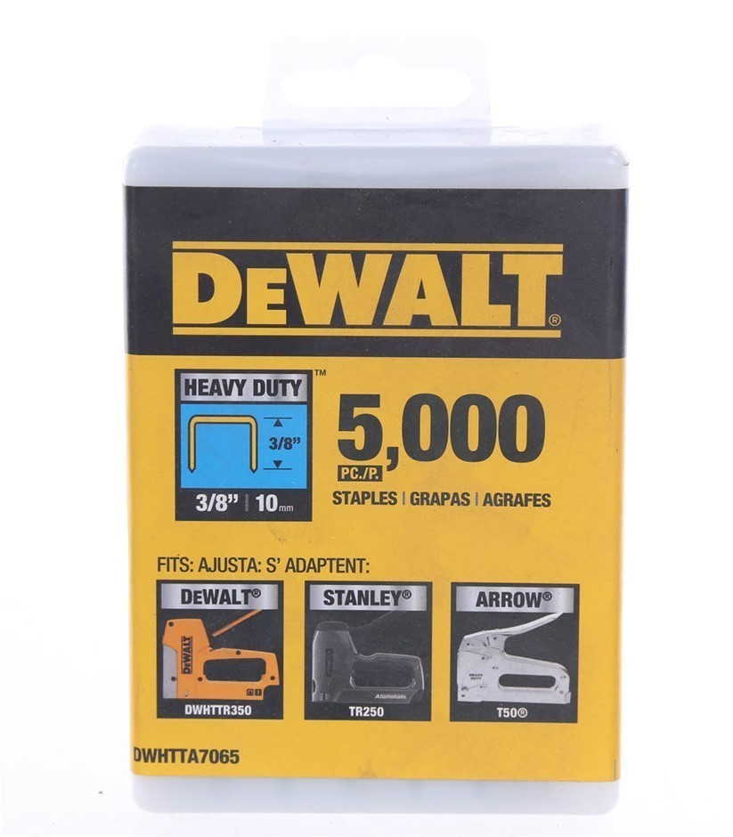 Pack of 5,000 x DeWALT Heavy Duty Staples 3/8``/ 10mm Buyers Note - Discoun