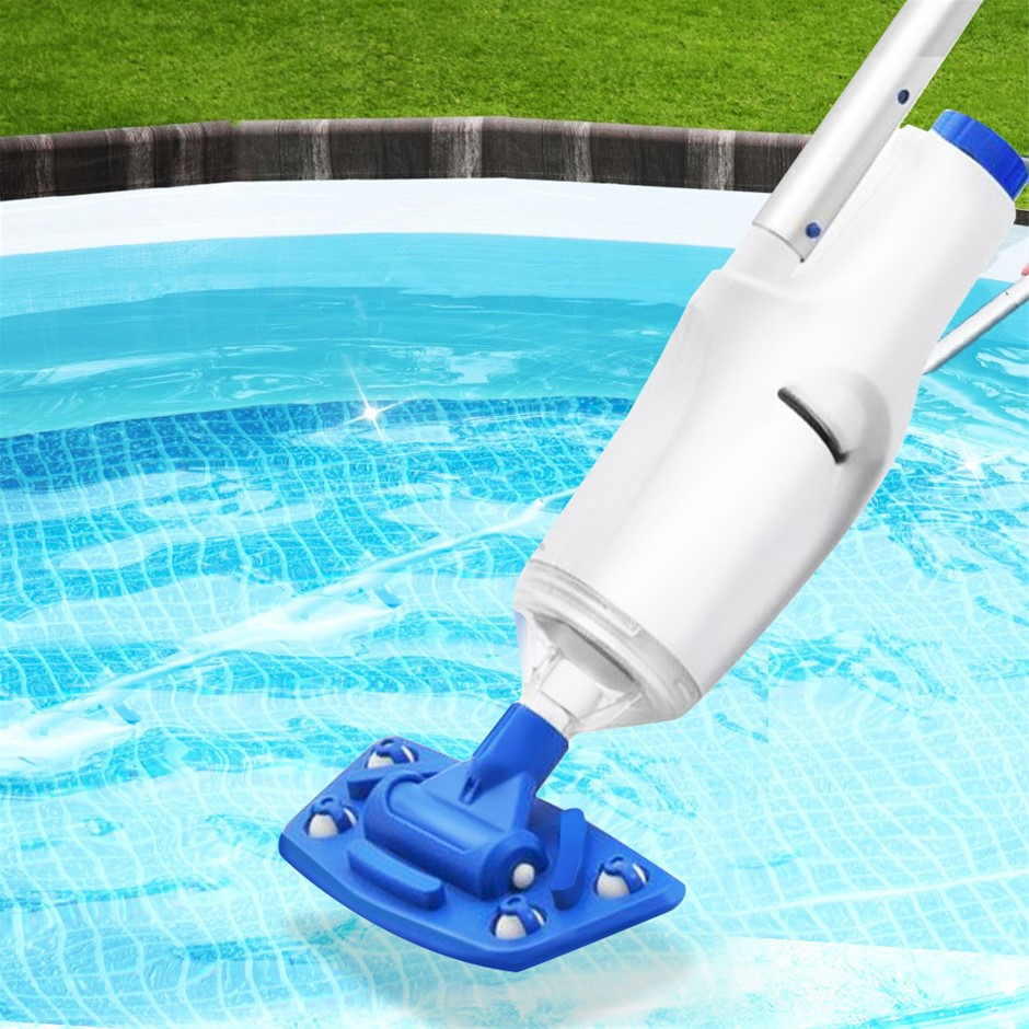 Bestway Automatic Pool Cleaner Vacuum Sucker Cordless W/ Pole Rechargeable