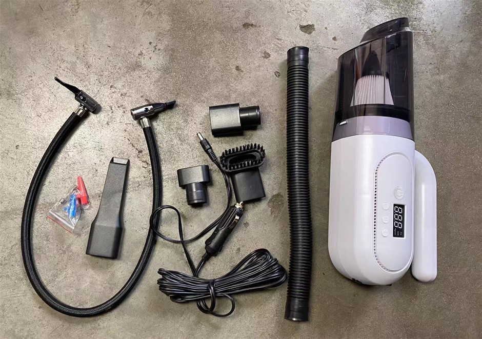 Portable Car Vaccum Cleaner with Digital Display