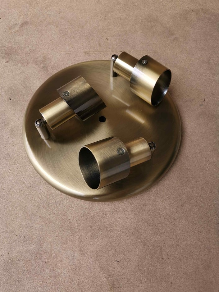 Domus 'Retro' Hollywood Ceiling Lights LED compatible- Antique Brass