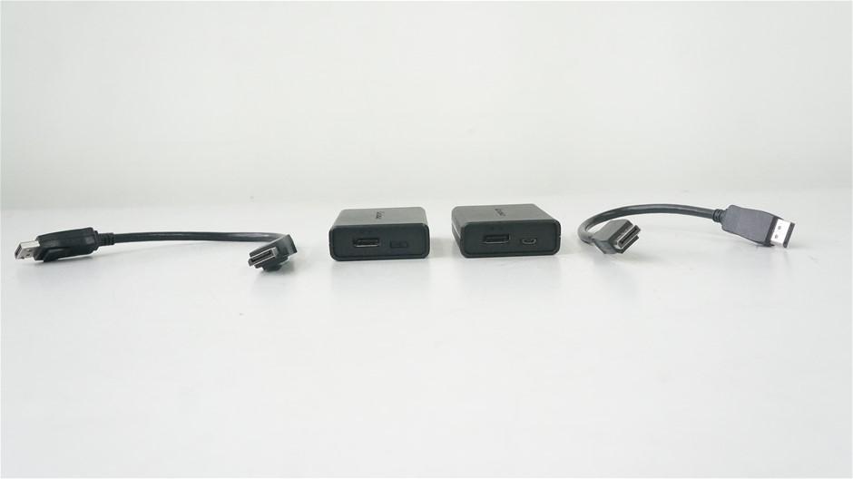 Box of USED/UNTESTED Lenovo DisplayPort to Dual DisplayPort Adaptor