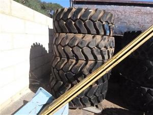 4x Michelin Heavy Machinery Tyres