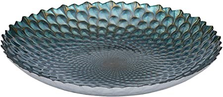 ANYA Plume Large Platter, Constructed from glass, Hand wash only, 40cm. (SN
