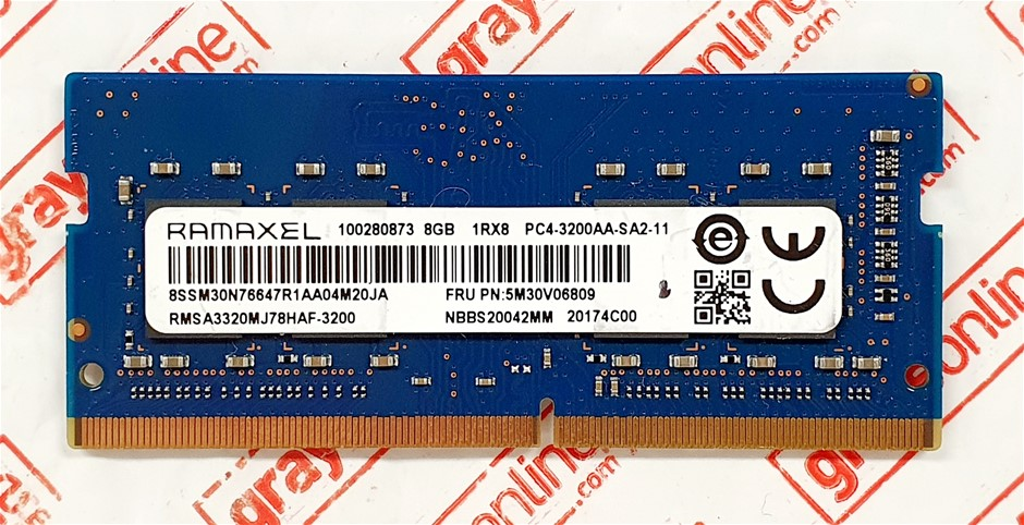 RAMAXEL 8GB PC4-3200AA Sodimm DDR4 260pin Laptop Memory Module