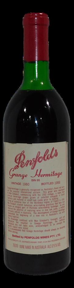 Penfolds Bin 95 Grange Hermitage 1980 (1x 750mL), SA
