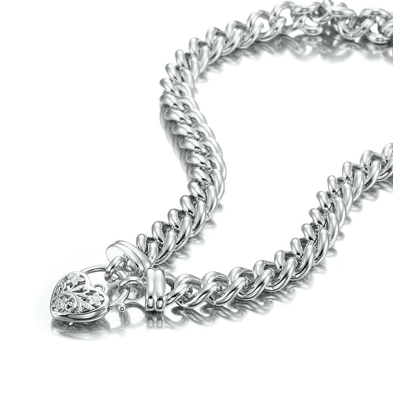 "Impressive 20"" Chunky Euro Chain Necklace Featuring Classic Filigree Locket"