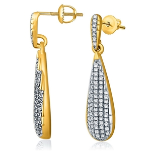 9ct Yellow Gold, 0.29ct Diamond Earring