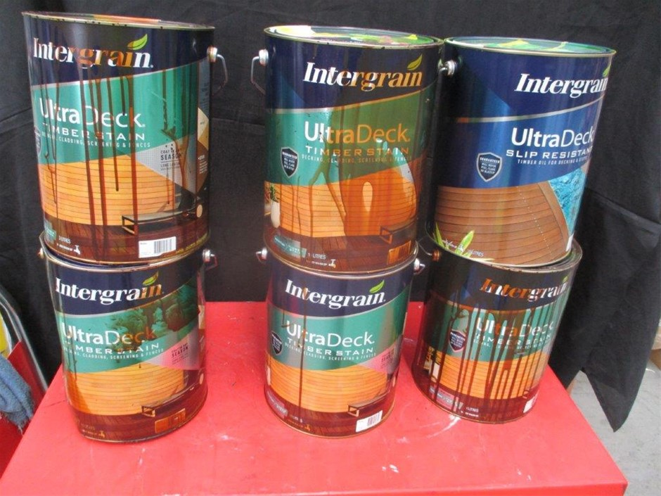 Qty 6 x Intergrain 10 Litres Timber Stain