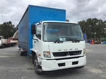 2014 Mitsubishi Fighter Fuso 4 x 2 Curtainsider Rigid Truck