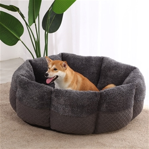 Charlie's Pet Faux Fur Calming Bed with