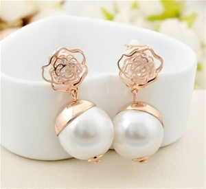 18K Rose Gold filled Filigree Rose Large