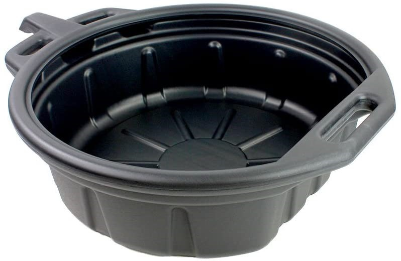 2 x CAPRI TOOLS, CP21021 17L Portable Oil Drain Pans, BLACK, 58.42 x 48.26