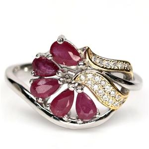 Unique Genuine Ruby Ring.