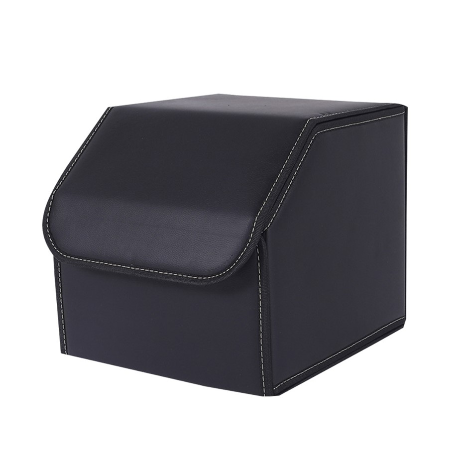 SOGA Car Boot Collapsible Storage Box Black Small