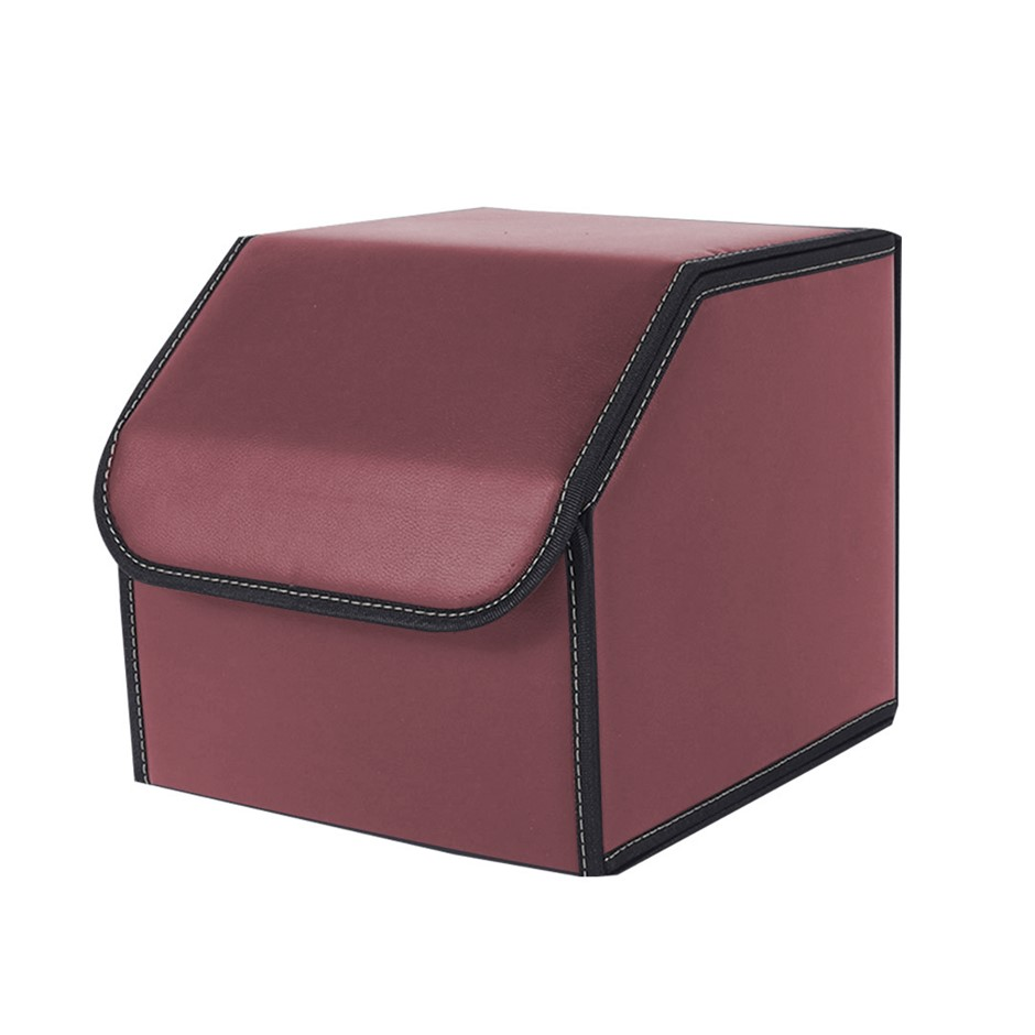 SOGA Car Boot Collapsible Storage Box Red Small