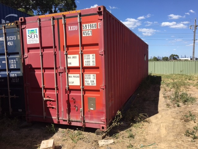 Cargo Grade 40ft HiCube Container 2009 manufactured- in VGC (guaranteed