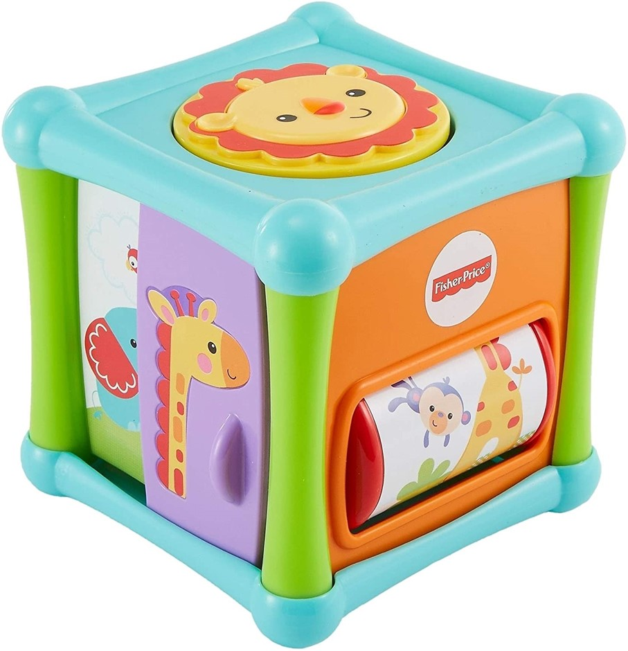 FISHER-PRICE Growing Baby Animal Activity Cube. (SN:B00IG3CJIE) (279351-546
