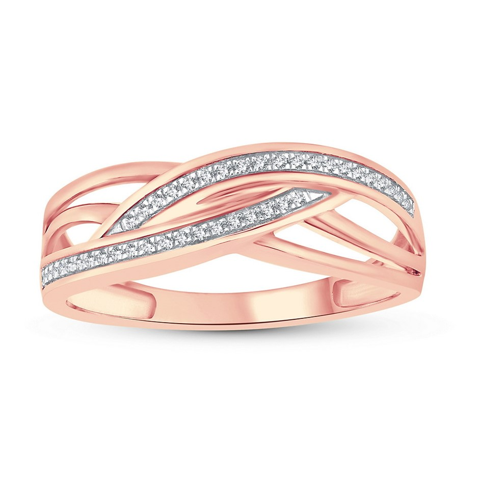 9ct Rose Gold, 0.07ct Diamond Ring