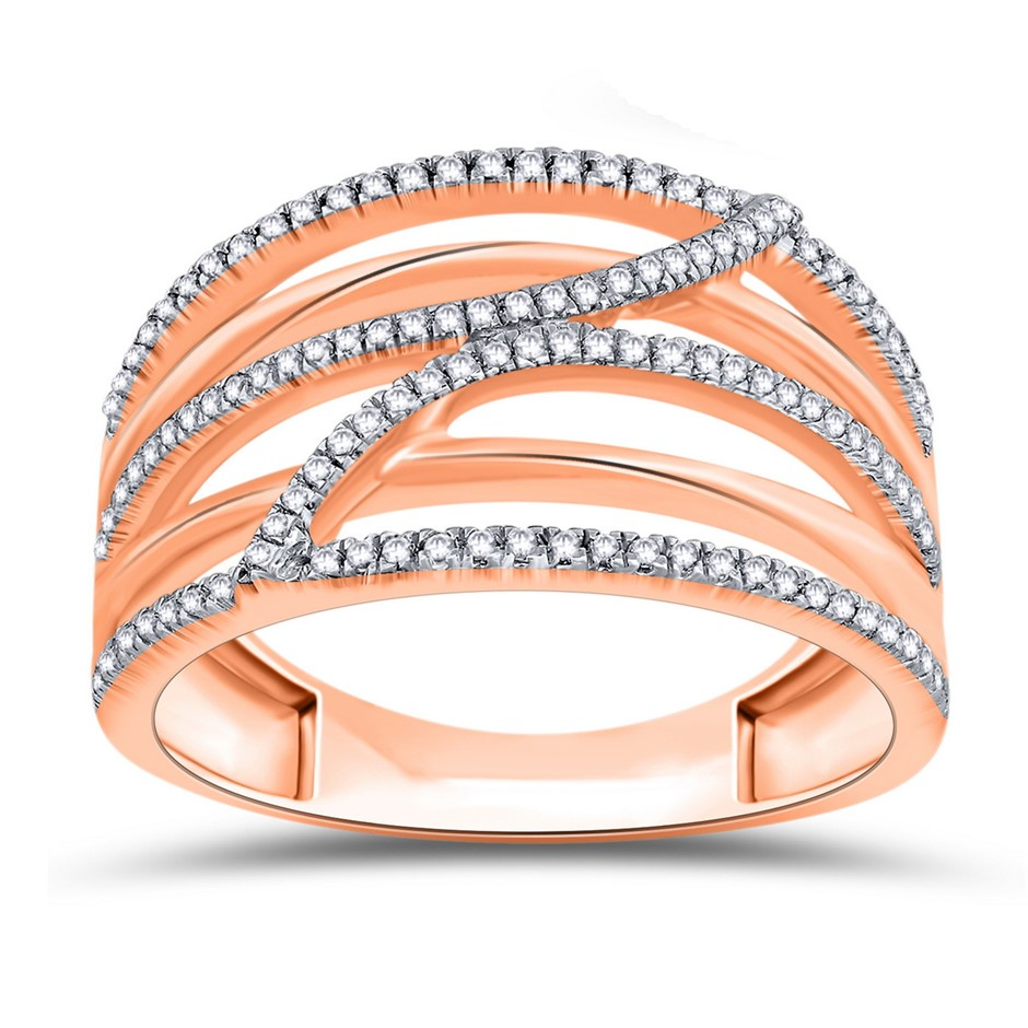 9ct Rose Gold, 0.20ct Diamond Ring