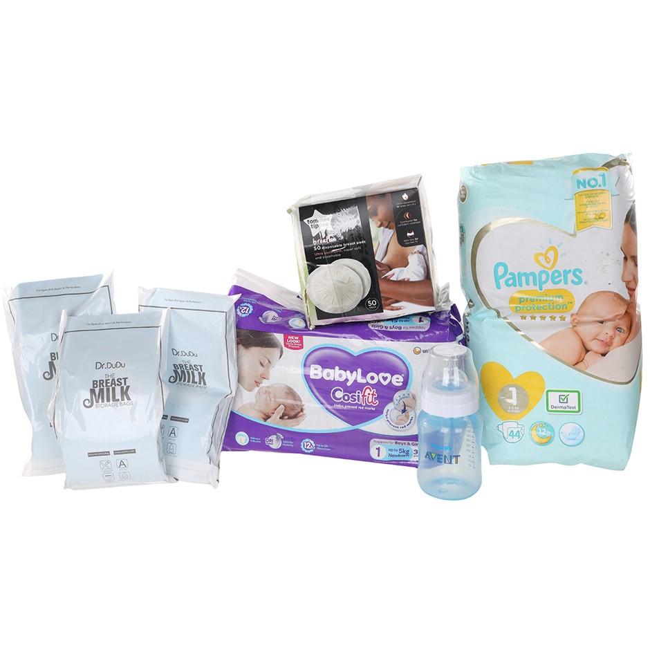 Mixed Infant Baby Box, N.B Slight Damaged Nappy Pack. (SN:B02Z3456) (279351