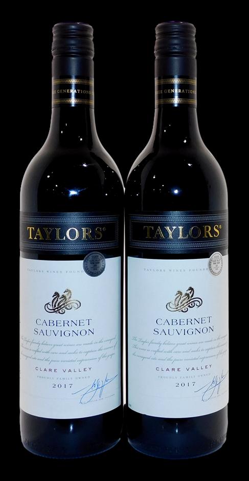 Taylors Cabernet Sauvignon 2017 (2x 750mL), Clare Valley