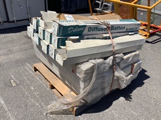 Pallet Containing Assortment of Fluoro Batten Diffusers