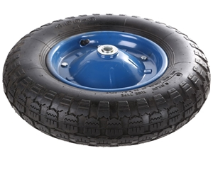 Pneumatic Tyred Rubber Wheel 15ins with