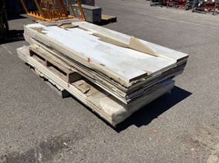 2 Pallets Containing Approximately 42 Lengths of Timber Partitions