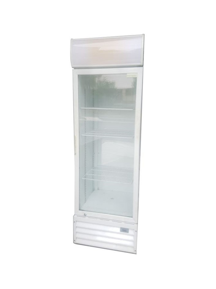 Thermaster 4 Tier Single Glass Door Upright Fridge