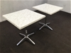 <p>Qty 2 X Isotop Cafe Tables</p>