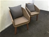 <p>Qty 2 X Wicker Style Arm Chairs</p>