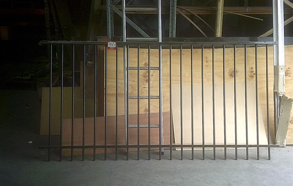 Steel Gate/Fence Panel. Black. New 2400mm x 1210mm