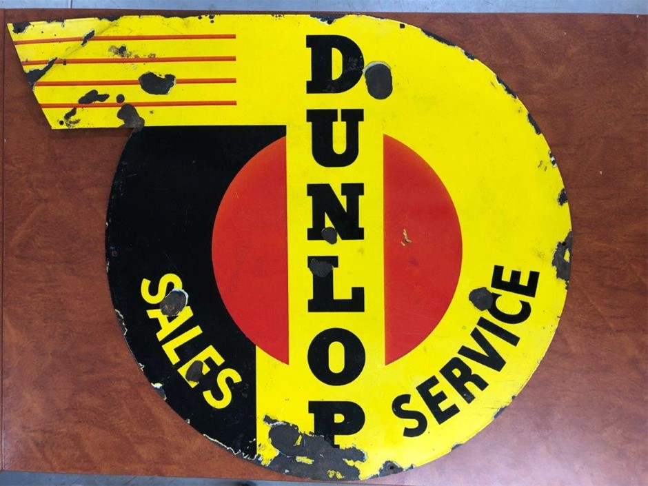 Authentic DUNLOP Enamel Sign