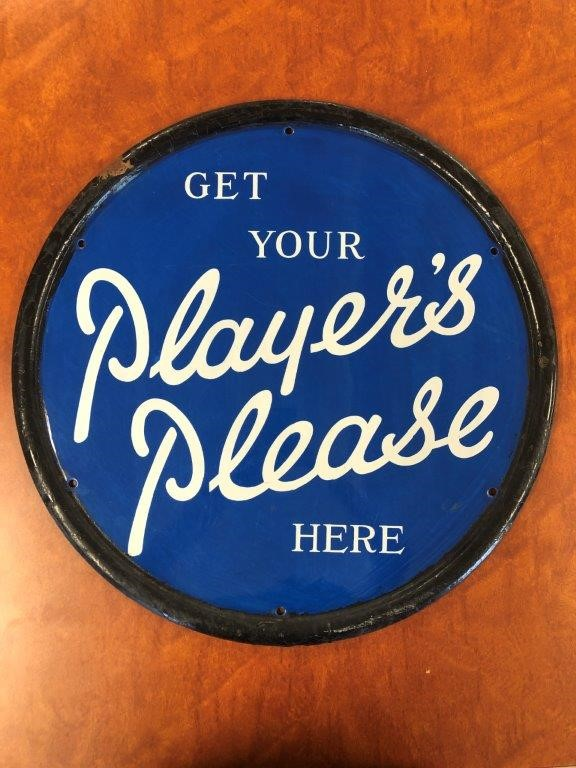 Authentic Get Your PLAYERS PLEASE Enamel Sign