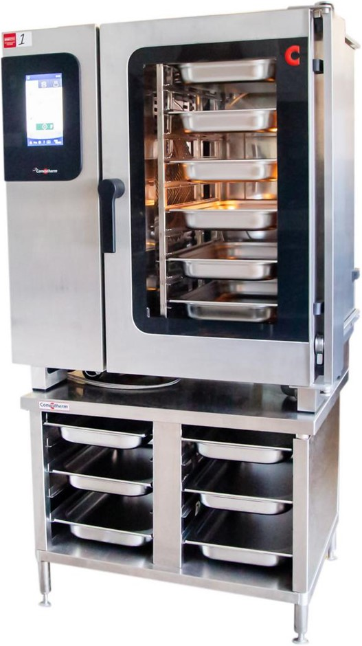 CONVOTHERM 10 TRAY STAINLESS STEEL COMBI OVEN ON STAINLESS STEEL STAND